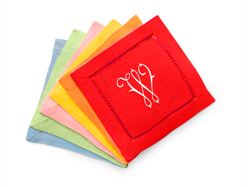The Elegant Setting linen cocktail napkins