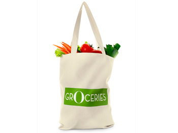 The O magazine canvas grocery bag