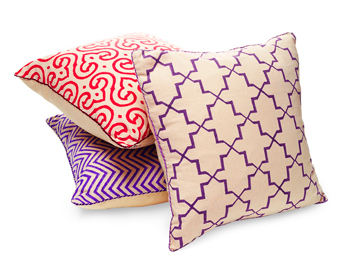 Madeline Weinrib organic linen pillows