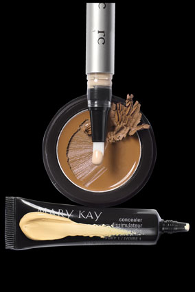 T LeClerc Corrector Fluid Pen, Mary Kay Concealer, Iman Second to None Cover Cream