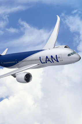 Lan Airlines airplane