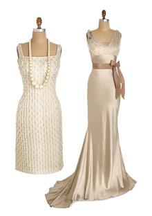 Carmen Marc Valvo and Vera Wang wedding dresses