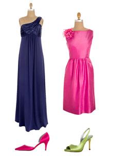 JCrew and David's Bridal bridesmaid dresses