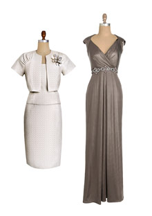 Calvin Klein and David Meister mother of the bride dresses