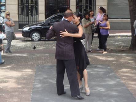A couple doing the tango in Buenos Aires