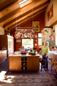 Cindy Pawlcyn's Napa Valley kitchen