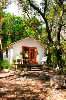 Chef Cindy Pawlcyn's tent cabin near her Napa Valley home