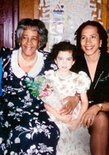Lorene Cary and family