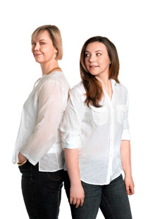 Annie Selke and Charlotte Selke