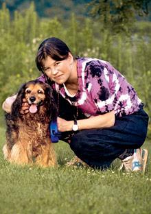 Jo Ann Beard and Sheba