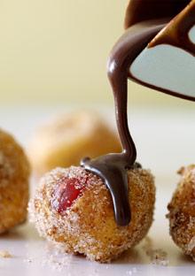 Cherry doughnut holes