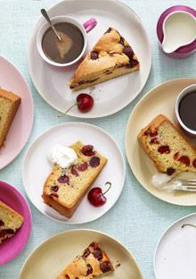 Cherry-olive oil polenta cake