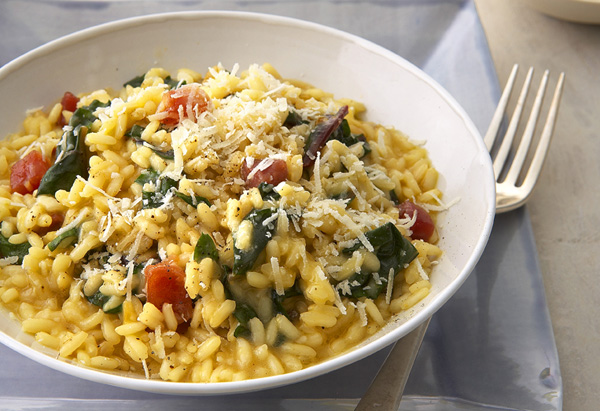 Risotto with Spring Greens and Prosciutto
