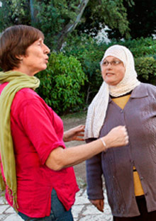 Sued Zeid and Arlene Harel in the Israeli Palestinian weight loss group