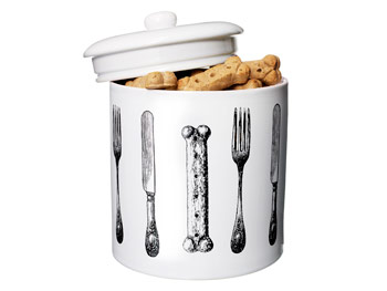 Dogs Uncorked Dog Biscuit Container - O List