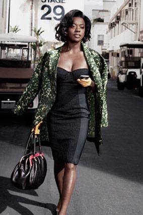 Viola Davis in Vera Wang and Dolce and Gabbana