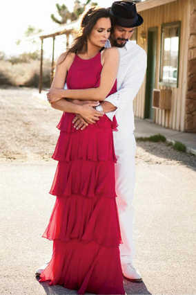 Benjamin Bratt and Talisa Soto in O The Oprah Magazine