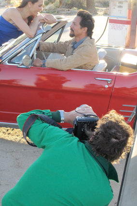 Photographer Roger Neve shoots Benjamin Bratt and Talisa Soto
