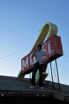 Motel sign in California