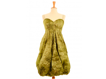 Green designer dress