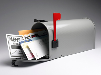 Mailbox with bills