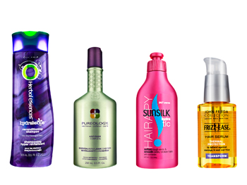 Curly summer hair products