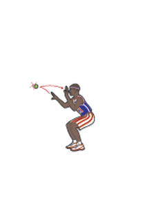 Harlem Globetrotters tennis ball squats