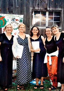 Jane Hamilton and members of her quintet