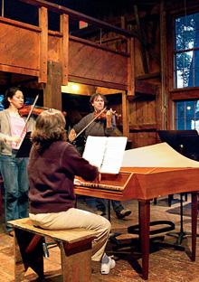 Musicians rehearsing