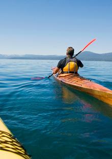 Kayaking on the ocean