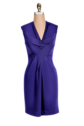 Lush blue sheath dress