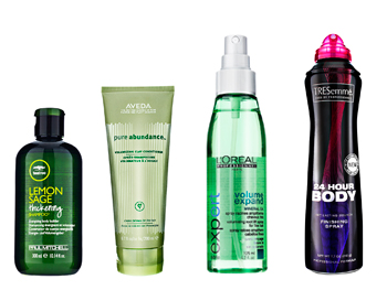 Straight summer hair products