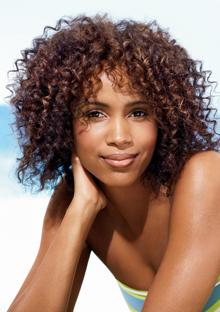 Curly beach hair