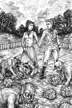 Pride and Prejudice and Zombies illustration