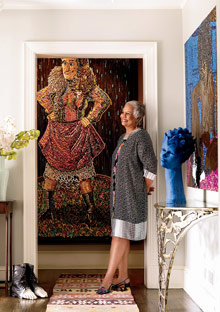 Peggy Cooper-Cafritz at home
