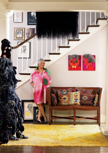 Peggy Cooper Cafritz in her doorway