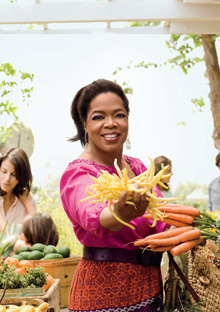 Oprah at a farmer's market