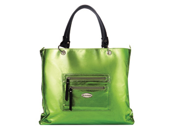 The Velvet Slipper green tote