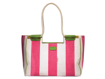 Lilly Pulitzer pink striped tote