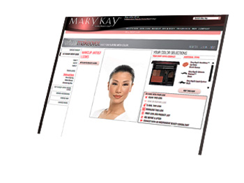 MaryKay.com virtual makeovers