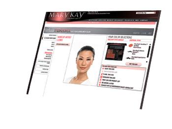 MaryKay.com virtual makeovers