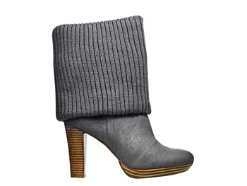 Fergalicious stacked-heel ankle boots
