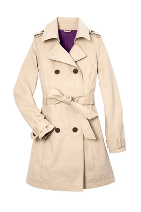 Old Navy tan trench coat