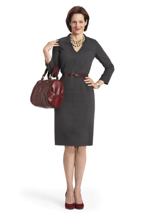 Ellen Tracy grey wool dress