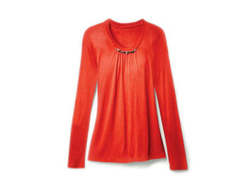 Simple Vera Vera Wang red shirt