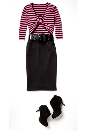 Lisa Lucchese makeover - pink striped shirt