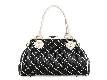 Lulus black and white bag