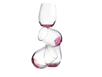 Riedel Pink Wine Glasses
