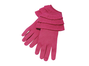 White + Warren Pink Gloves