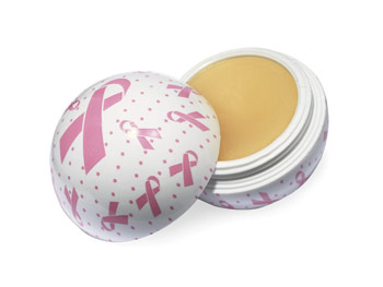 Ballmania Twist and Pout Pink Ribbon Lip Balm